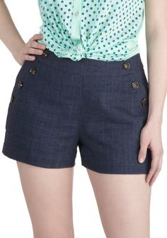 Pass the Navy Down Shorts, #ModCloth