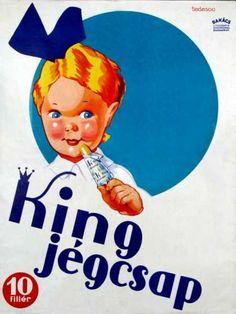King Jégcsap édesség plakát