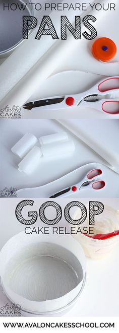 """How to prepare your cake pans with the awesome homemade GOOP cake release! Parchment is my best friend for taking 2"""" to the next level...."""