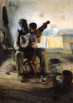 🎨 The Banjo Lesson, 1893 👨🎨 Henry Ossawa Tanner (Jun 1859 – May was an American artist and the first African-American painter to gain international acclaim. 🏛 Hampton University Museum, Hampton, VA, US Art is the freedom to be yourself. American Realism, African American Artist, American Artists, Banjo, Guitar, Henry Ossawa Tanner, Pin Up, Poster Prints, Art Prints