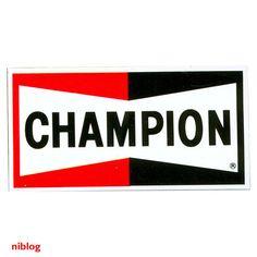 World's finest selection of logos. Garage Signs, Garage Art, Racing Stickers, Car Stickers, Champion Logo, Vintage Metal Signs, Retro Logos, Car Logos, Old Signs