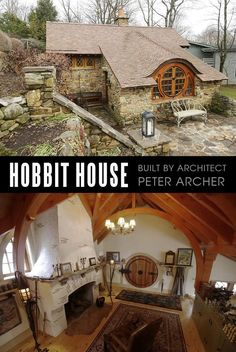 "14 Cutest Custom and Prefab Hobbit Houses for Tiny Living ""Fairy Tale-Style"" - Craft-Mart Cottage House Plans, Cottage Homes, Hobbit House Interior, A Frame Cabin, Natural Building, Architect House, House Built, Tiny House Design, Tiny Living"