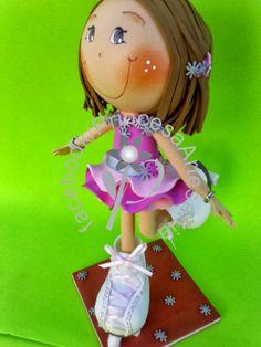 Princesa Artesanias: Patinadora 3D