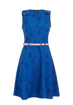 Boat Print Dress {So cute for summer}