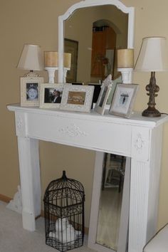 mantel for west side of east bedroom? this idea got veto-ed ...too many real fireplaces in the house to do this for decoration