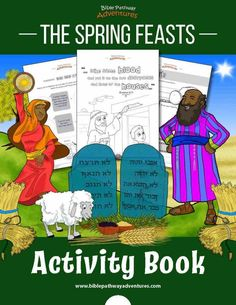 Spring Feasts Activity Book for Kids. Learn about God's Appointed Times of Passover, Unleavened Bread, First Fruits, Shavuot, and the Sabbath. Drawing Activities, Bible Activities, Activity Books, Children Activities, Holiday Activities, Adventure Bible, Bible Quiz, Sunday School Teacher, Bible Coloring Pages