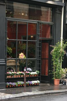 French flower shops photos by j whitson/gardenvarietydesign Flower Market, Flower Shops, French Flowers, Bath And Beyond Coupon, Shop Fronts, Shop Front Design, Shop Window Displays, Shop Plans, Shop Interior Design