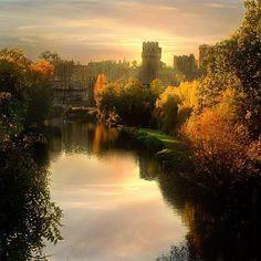 A view of Warwick Castle in West Midlands, England
