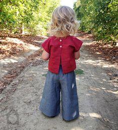 Ponderosa pant, palazzo pants, bohemian, baby pants, toddler pants, girl's pants, children's clothing, wide legged, bell bottoms