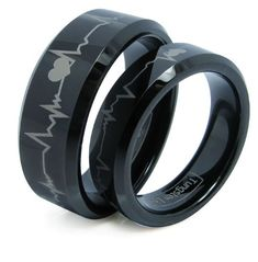 These beautiful and stylish tungsten carbide rings are 8MM in width for men's and 6mm for girls'. They are both comfort fit. If you are looking for a ring that is scratch proof and forever keep its shine, then our Tungsten Carbide rings are for you. Tungsten Carbide is ranked second hardest next to diamond on the Mohs scale, diamond being a 10 followed by Tungsten Carbide as 9. All of our Tungsten ...