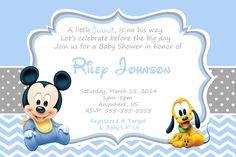 Baby Mickey Mouse Baby Shower Invitations - partyexpressinvitations