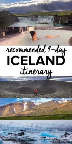 Recommended 9 day Iceland itinerary. What to do in Iceland. Where to stop in Iceland. Guide to driving Iceland's Ring Road.