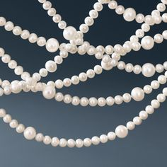 Tiffany & Co. Ziegfeld Collection necklace of freshwater cultured pearls. #TiffanyPinterest