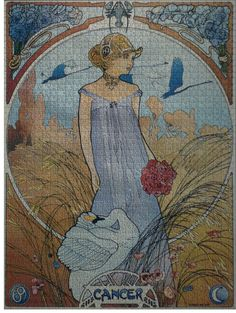 Alphonse Mucha's Zodiac paintings. My Sun Sign.