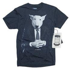 Bull Terrier Dog at the Office (Men's T-Shirt)