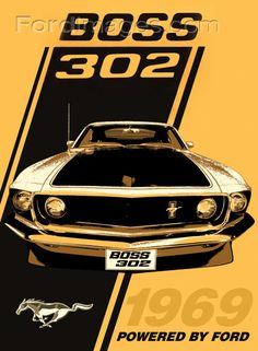 1969 Boss 302 : Posters and Framed Art Prints Available Mustang Boss 302, Mustang Cars, Ford Mustangs, Bicicletas Raleigh, Magnified Images, Dream Cars, My Dream Car, Classic Mustang, Pony Car