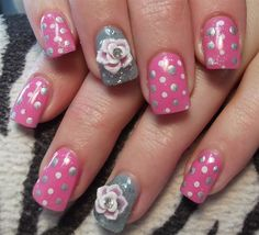 Day 130: Mother's Day Bouquet Nail Art - - NAILS Magazine