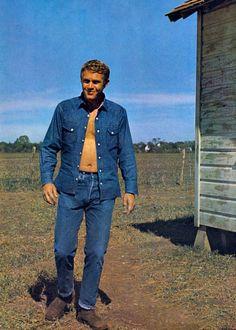 thelittlefreakazoidthatcould: >Steve McQueen on the set of Baby, The Rain Must Fall, 1964.