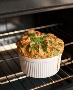 Spinach and Bacon Soufflé from Paleo Planet (Whole30) | acalculatedwhisk.com