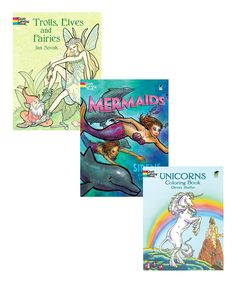 Another great find on #zulily! Mythical Creatures Coloring Book Set by Dover #zulilyfinds