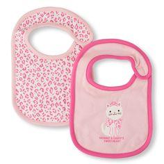 Newborn Baby Cat Bib 2-Pack - White - The Children's Place