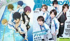 voice actors cosplay their characters for magazine cover - SGCafe Cd Drama, Nobunaga Shimazaki, Tatsuhisa Suzuki, Swimming Anime, Free Iwatobi Swim Club, Different Emotions, Free Anime, Voice Actor, Asian Actors