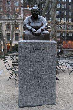 NYC - Bryant Park: Gertrude Stein statue
