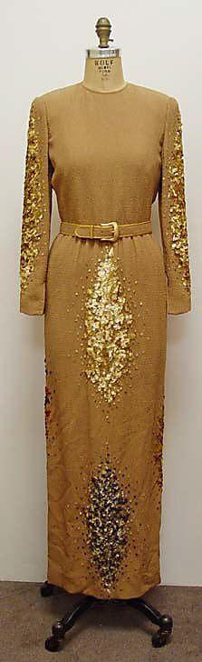 Evening dress James Galanos (American, born Philadelphia, Pennsylvania, 1924) Date: ca. 1990 Culture: American Medium: synthetic, silk, plas...