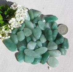 10 Green Aventurine Crystal Tumblestones  Special by SunnyCrystals, £2.95