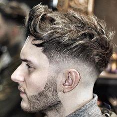 ryancullenhair_ textured wavy hair mid fade