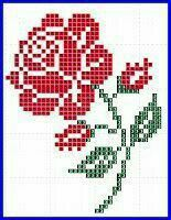Cross Stitch 1 - Set 2 - - Flowers - Designs - by Meh - Very Few Jump Stitches to None at All Cross Stitch Cards, Cross Stitch Rose, Cross Stitch Alphabet, Cross Stitch Flowers, Cross Stitching, Cross Stitch Embroidery, Hand Embroidery, Broderie Bargello, Diy Broderie