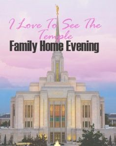Teach children about the temple in the fun, interactive family home evening outline. There is also an outline for couples without children!