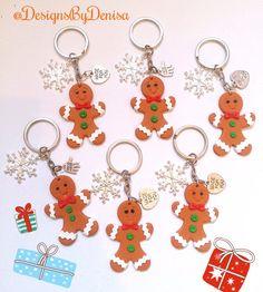 Adorable Gingerbread Men Keyrings Bag Charms by DesignsByDenisa