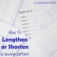 Quando cuci i tuoi vestiti, puoi modificare modelli per calzare perfettamente la tua forma! Ecco come allungare o accorciare un cartamodello in 4 modi!
