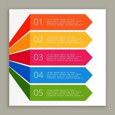 couleurs infographiques étapes bannières