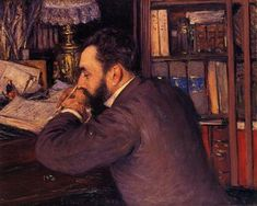 Caillebotte Gustave Portrait of Henri Cordier