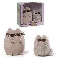 GUND Pusheen the Cat Collector Set - Sungalsses Pusheen and Stormy  #cat #cute #pusheen #stormy