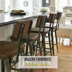 I am finally sharing which kitchen barstools I went with today! I wanted to strike that balance between modern & farmhouse and I did, they are perfect.