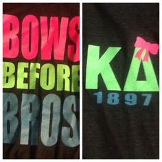 bows before bros. want in Sigma Kappa with a big lavender bow on the Kappa! Kappa Delta Sorority, Phi Sigma Sigma, Sorority Sugar, Alpha Xi Delta, Gamma Phi Beta, Delta Zeta, Phi Mu, Sorority Life, Sorority Shirts