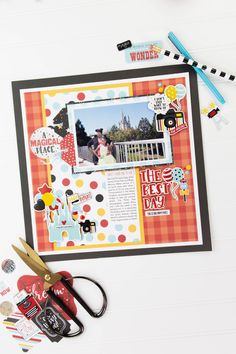 May Projects-1330 Scrapbook Page Layouts, Scrapbook Pages, Scrapbooking, Echo Park Paper, Disney Scrapbook, Best Day Ever, Good Day, Make Your Own, Growing Up