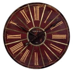 Red Large Wall Clock 16077