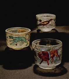 Roman Glasses, 2nd Century, Found in Denmark