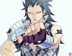 Gajeel Redfox. Recently I've been reading Fairy Tail and I love it XD