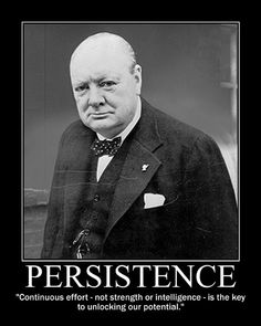 Continuous effort - not strength or intelligence - is the key to unlocking our potential.   Winston Churchill
