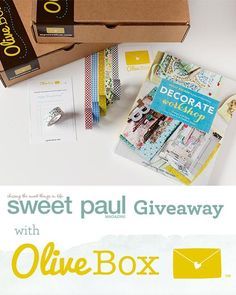 Enter to win the March 2013 OliveBox! @myolivebox