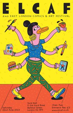 """Obras brillantes y juguetonas del ilustrador procedente de Philadelphia(USA) Andy Rementer. Las ilustraciones de Rementer son coloridas, divertidas y de trazo grueso. Sus trabajos han sido publicados en multitud de medios entre los que se encuentran The New York Times, MTV, Urban Outfitters, The New Yorker o Warner Brothers. Estamos seguros que vais a disfrutar de su estilo y su """"chispa""""."""