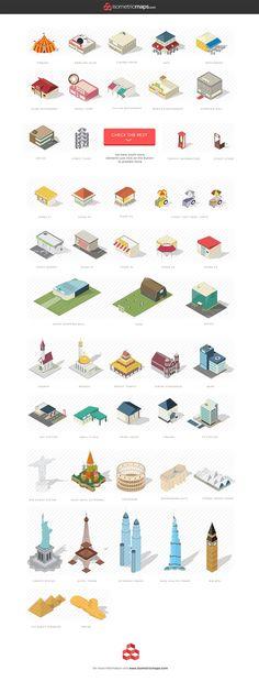Isometric City Maps Builder by roundicons.com on @creativemarket