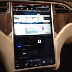 Tesla Model S Dashboard. Is it cool or too much?