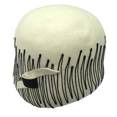 Schiaparelli Paris 50s wool felt hat.