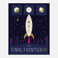 The Final Frontier  by Alonzo Felix    New York-based Wander is an online gang of globetrotters created by Keenan Cummings and Jeremy Fisher. While it's yet to be officially rolled out, we've gleaned that it'll initially launch as a well-designed app for sharing what place, travel, and memory means to you. As an example of its M.O., Wander asked a bunch of illustrators to create a poster that succinctly shows the places they've been and the stories behind them.